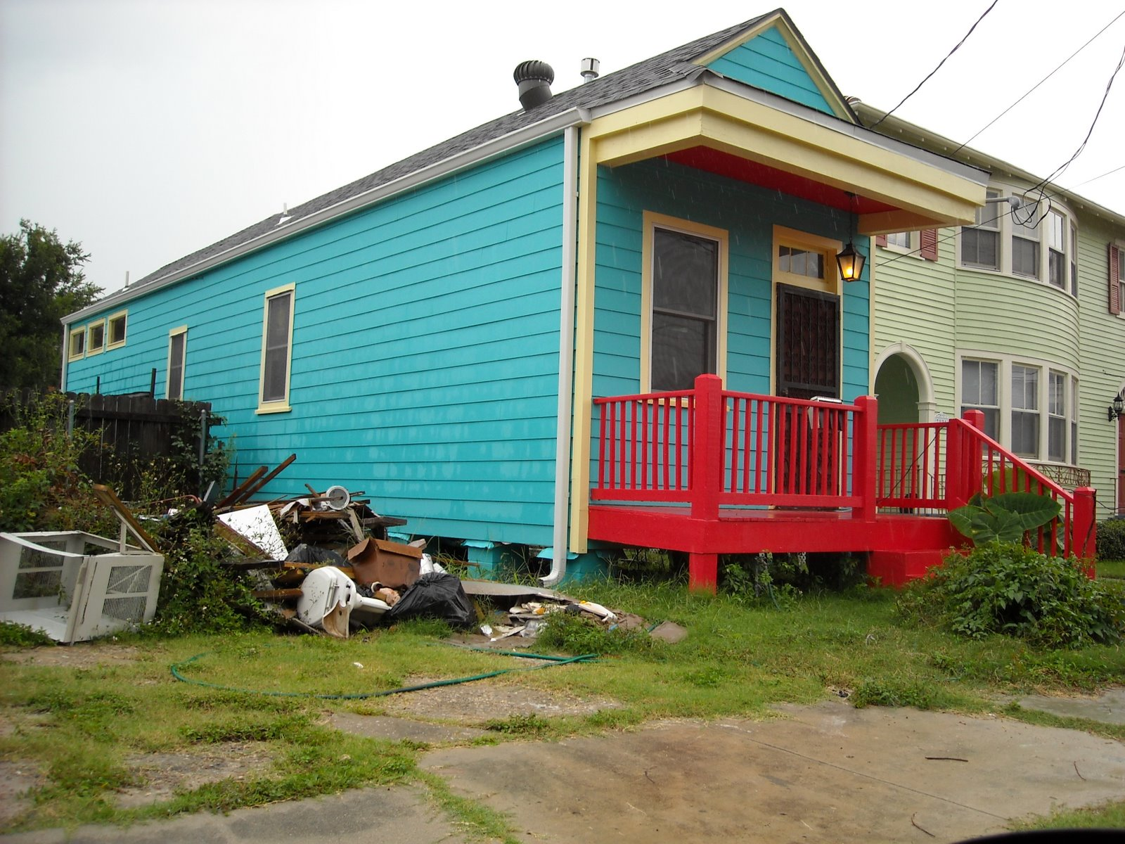 Blue House, Red Porch
