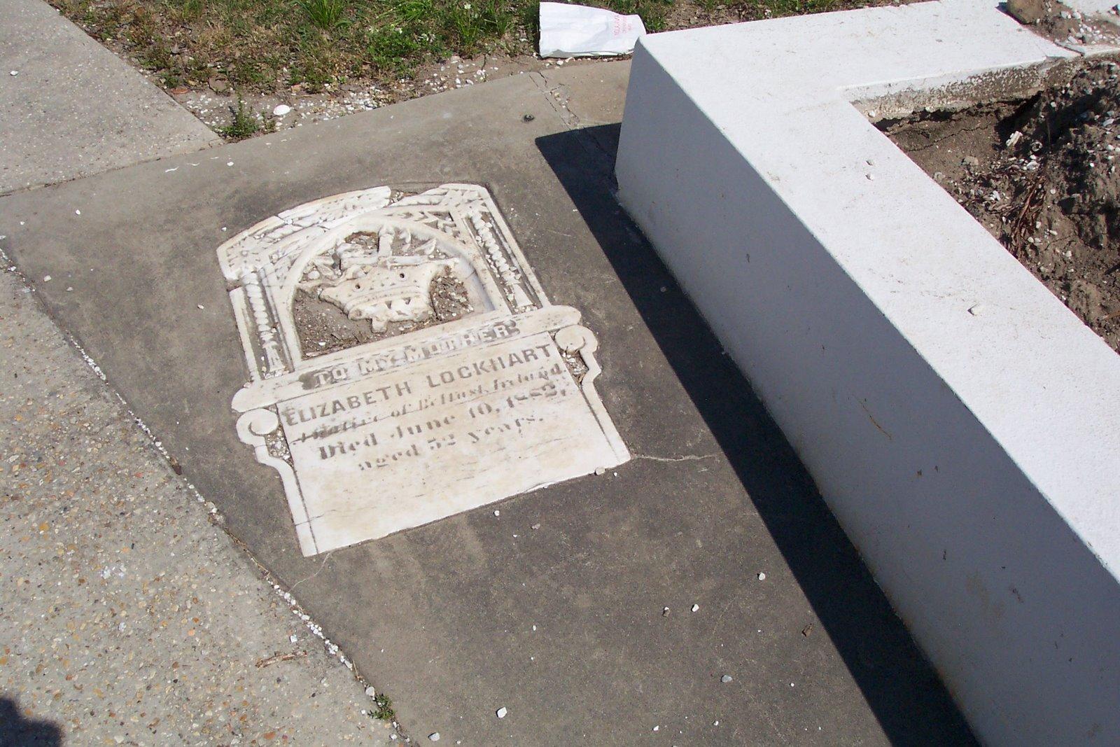 Embedded Grave Marker