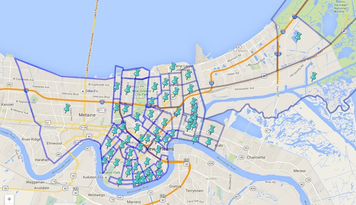 Faubourg Map